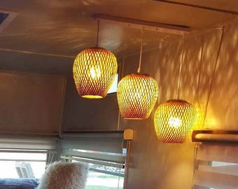 Bamboo Pendant Light-Chandelier-Pendant Lighting-Rustic Lamp