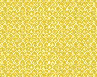 1/2 yard or more - Timber Leaf - Yellow Pine Stickers - Sarah Watts - Cotton Quilt Fabric