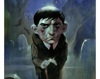 Mike Hoffman Dark Shadows Art Prints BARNABAS COLLINS & JULIA Hoffman