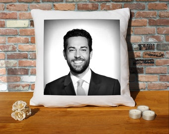 Zachary Levi Pillow Cushion - 16x16in - White