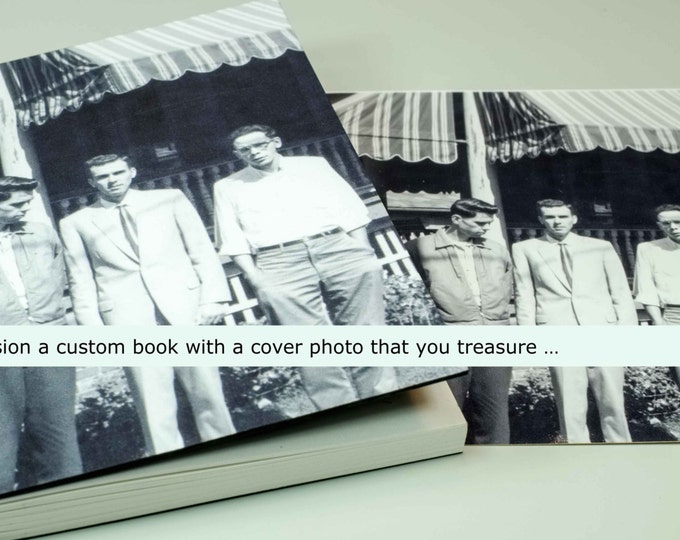 YOUR CUSTOM COVER | handmade coptic bound blank book diary journal keepsake notebook w/ your personal artwork image photo | aBoBoBook 1697