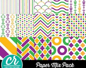 Digital Paper - Mardi Gras Mix Pack
