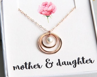 Mother's Day Gift, Mother Daughter Necklace, Mother and Two Daughters Necklace, Mom Gift, Mothers Necklace, New Mom, To Mom from Daughter