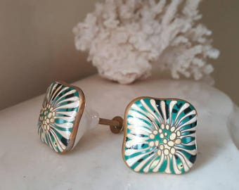Vintage Painted Drawer Knobs