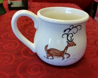 Large Coffee Reindeer Mug