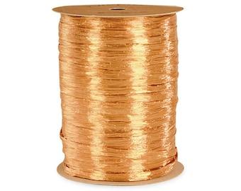 Gold Raffia,  Pearlized Gold Raffia 100 yds   Raffia Ribbon 100Yd , Raffia Ribbon - Wraphia