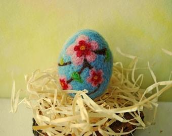 Easter decorations Easter egg Needle felted egg Spring Ornament Felt egg Easter Egg Flowers Easter Home Decor Easter Wool Eggs Eggs Hunting