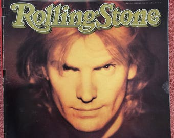 Vintage Rolling Stone Magazine Issue 519 Sting cover 1988 Rock n Roll Memorabilia Hip culture