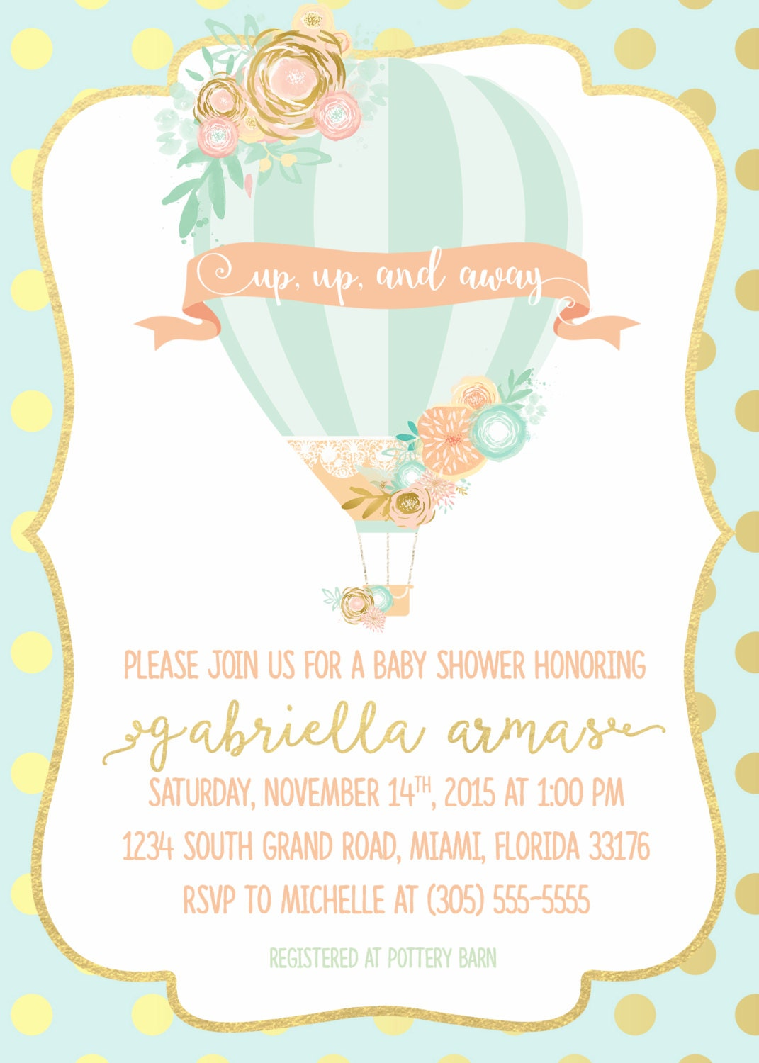 Hot air balloon baby shower invitation hot air balloon invitation hot air balloon baby shower invitation hot air balloon invitation floral baby shower invite girl french parisian chic printable invite filmwisefo Image collections