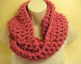 Pink Cowl Infinity Circle Scarf Neckwarmer