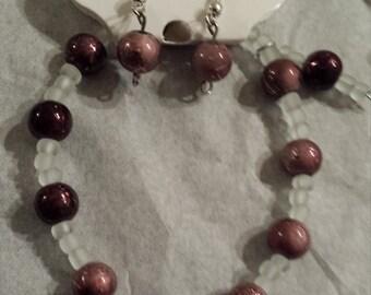 Set of bracelet & earring