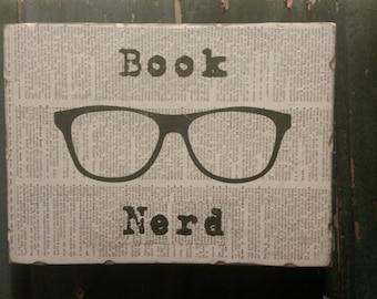 Book Nerd Wood Art