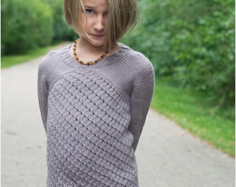 Child Sweater PDF Knitting Pattern The Astrid Sweater for sizes 2-12