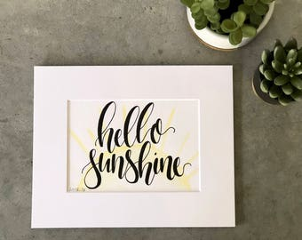 Print - Hello Sunshine - 5x7 Watercolor and Ink