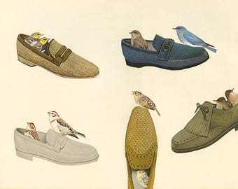 Loafers.  Original collage by Vivienne Strauss.