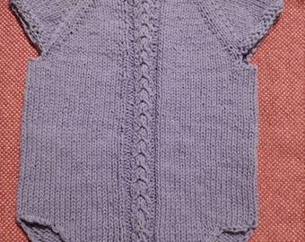 Handknit Cotton Infant/Toddler Onesie