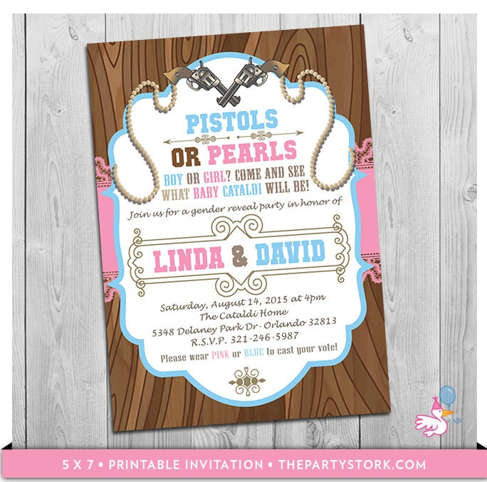 gender reveal printable invitations Josemulinohouseco