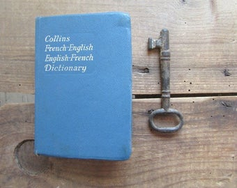 Collins French Gem Dictionary Vintage French English Dictionary Mini Small Travel Size