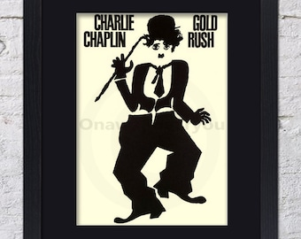 Charlie Chaplin - Gold Rush - Mounted & Framed Vintage Print