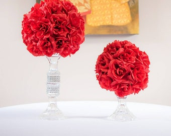 Kissing ball/pomander  centerpiece, floral arrangements