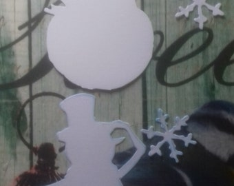 16 Tim Holtz Snowmen and Snowflakes