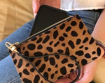"Leopard Pouch 7""x4 1/2"""