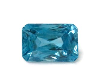 Natural Blue Zircon Gemstone Faceted Blue Zircon Loose Stone December Birthstone Genuine  Cambodia Blue Zircon Stone 3.71ct  9x6mm