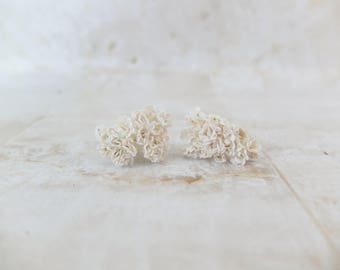 40 5mm white tiny mulberry paper gypsophila - mini baby's breath