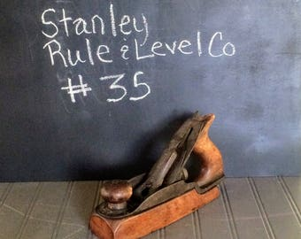 Vintage Stanley Rule and Level Company #35 No. 35 Plane Vintage Plane Tool