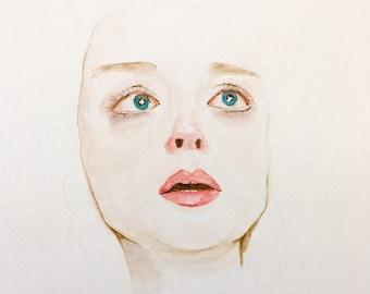 Watercolor Portrait - Woman's Face