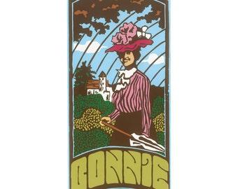 Bonnie silkscreen print