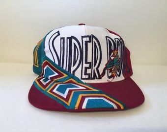 Rare Vintage 1996 NFL Super Bowl XXX 30 Aztec Lizard Logo 7 Snapback Hat