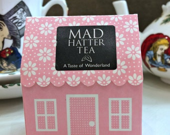 Mad Hatter Tea Bags x 6 - Alice In Wonderland Pink House