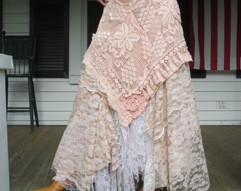 Bohemian Lace Skirt Made in the USA L-XL Special listing for Eleanor