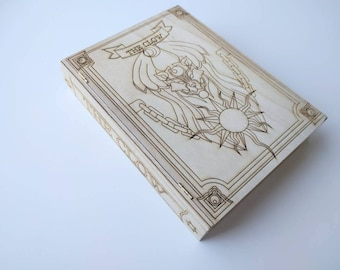 CardCaptor Sakura Clow Book Laser Etched - diy wood Cosplay Props