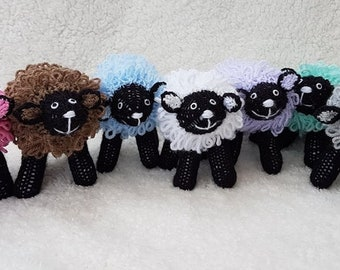 Hand-knitted toy Sheep
