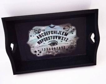 Ouija board, Ring tray, Jewellery storage, Ouija board tray, Gothic jewellery, gothic home decor, gothic gift.