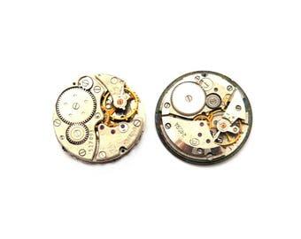 2 vintage 25mm gear steampunk watch mechanism
