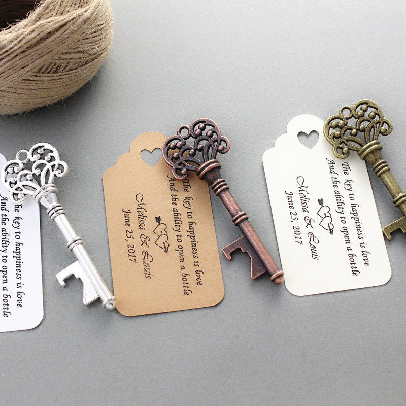 Customizable Wedding Tags Bottle Opener With Message 10 Pcs