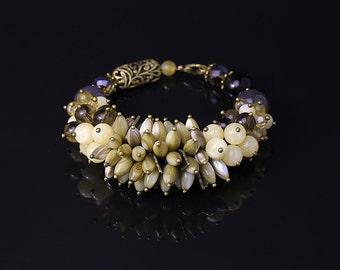 Beaded Bracelet • Bead Bracelet • Stone Bracelet • Boho Bracelet • Beadwork bracelet • Fashion Jewelry •  Agate Bracelet • Boho Accessories