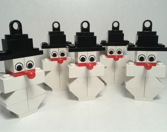 Lego Christmas Ornaments  - Snowman - @ Christmas Decorations @ Ornaments for Christmas Tree