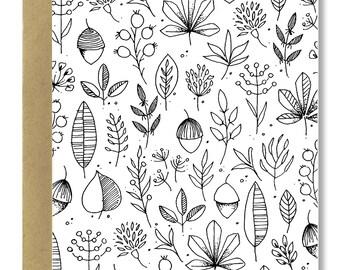 Fall Foliage - A2 Card (Single or Set of 5)