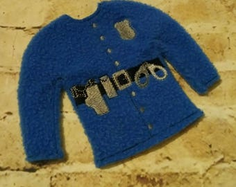 100% ITH - Police - Police Officer - Law Enforcement - Doll Sweater - 5 x 7 Only - Fleece is Suggested -  DIGITAL Embroidery DESIGN