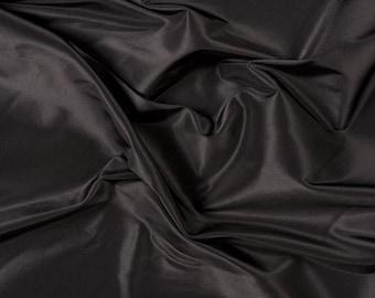 """54"""" Wide 100% Silk Taffeta Black by the yard (9000MT28)"""