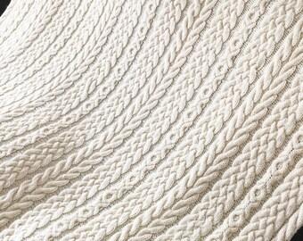 Irish Wedding Aran Afghan, Knit Afghan, Aran Afghan, Knitting Pattern, Irish Knitting Pattern