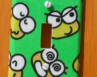 Keroppi (Hello Kitty's Friend) Frog  Light Switch Covers Outlet Covers