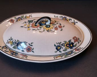Royal Cauldon Small Covered Meat Platter