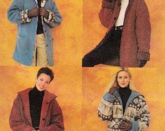 FLEECE JACKET Sewing Pattern Reversible Polar Gear Coat 3 Sizes OOP McCalls 2404