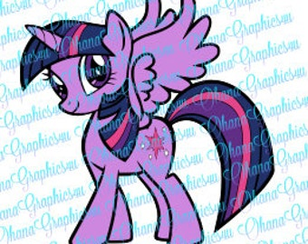 My Little Pony Inspired Twilight Sparkle SVG