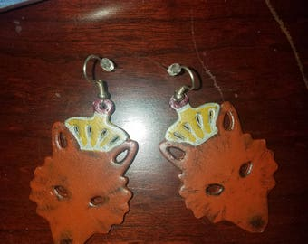 Coyote Princess earrings
